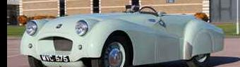 Record-breaking vintage Triumph sports car saved